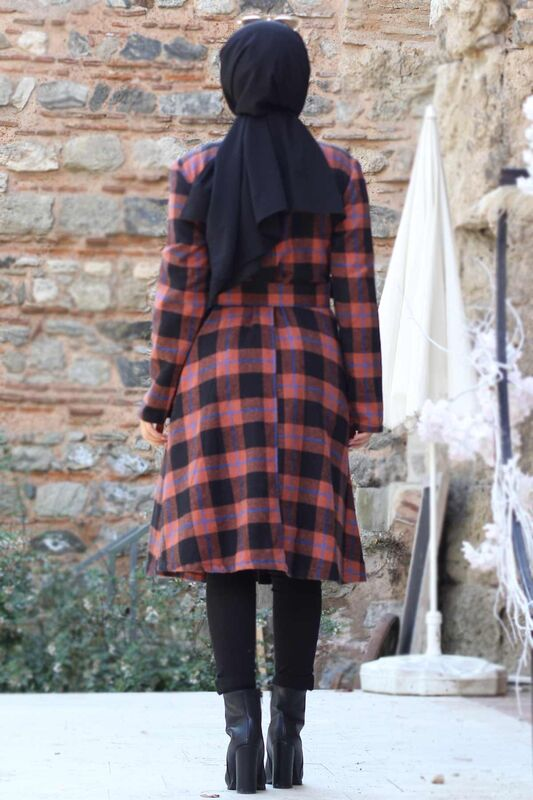 Plaid Patterned Arched Cape TSD0257 Tile