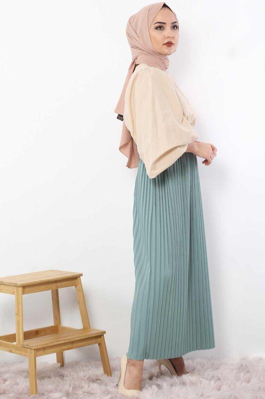 Pleated Pencil Skirt 1757 light blue
