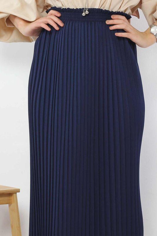 Pleated Pencil Skirt 1757 Navy Blue