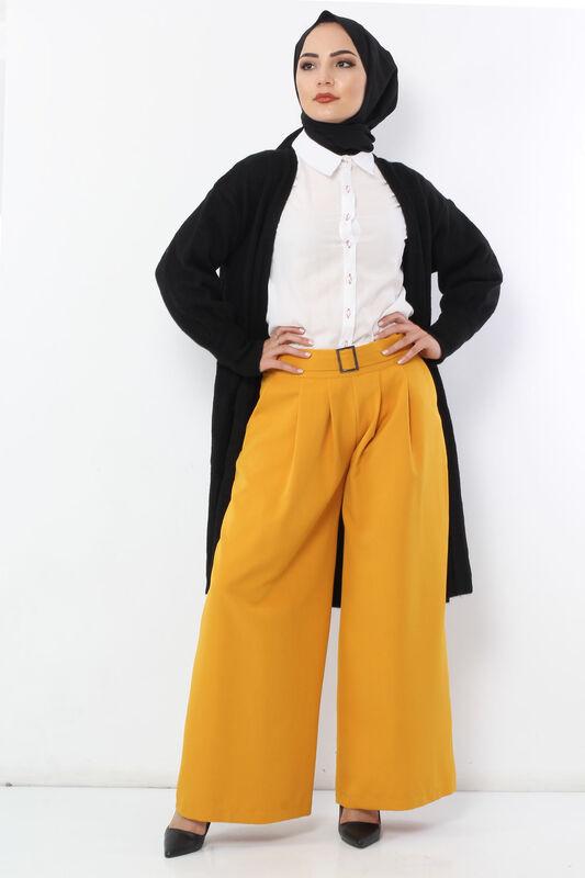 Pleated Skirt Trousers TSD2789 Mustard