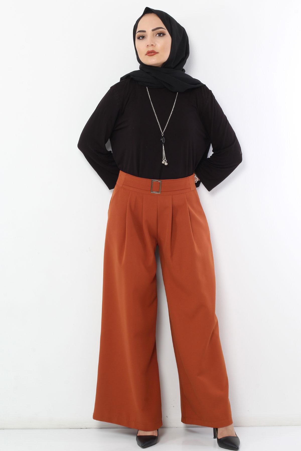 Pleated Skirt Trousers TSD2789 Tile