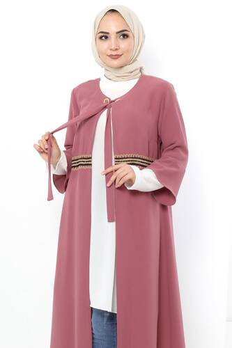 Plus Size Hijab Double Suit TSD3030 Dried Rose - Thumbnail