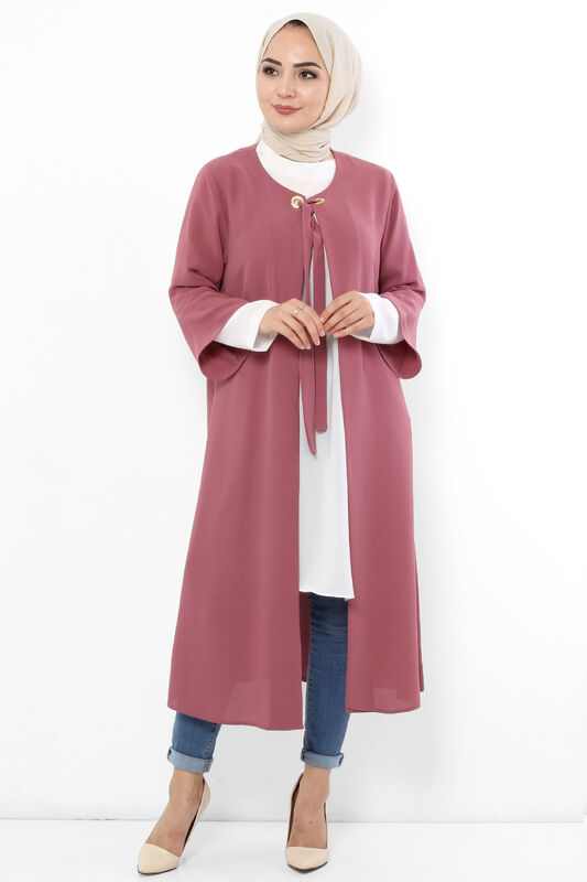 Plus Size Hijab Double Suit TSD3030 Dried Rose