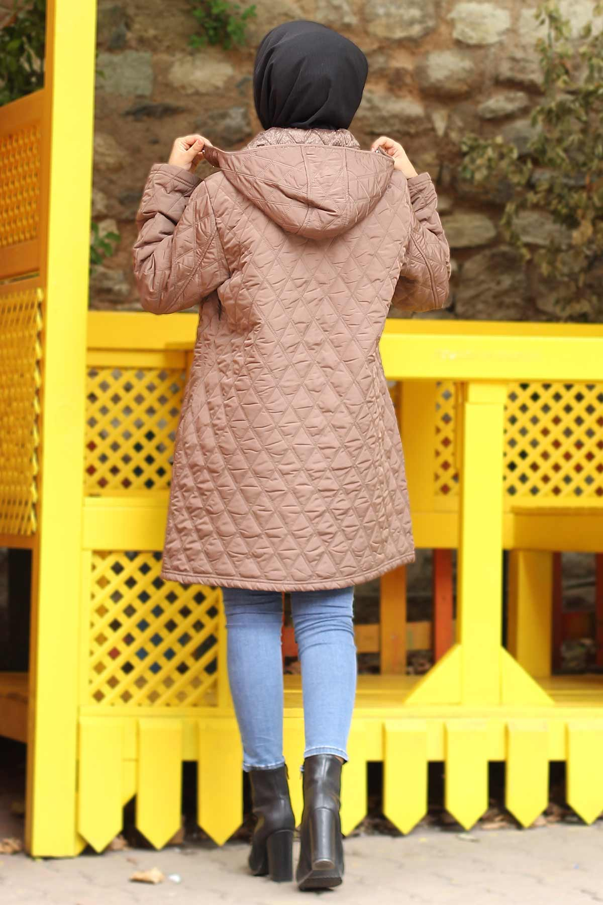 Plus Size Quilted Coat TSD0772 Camel