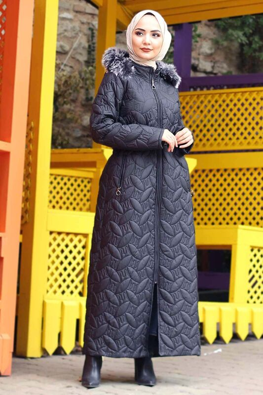 Plus Size Quilted Coat TSD9904 Black
