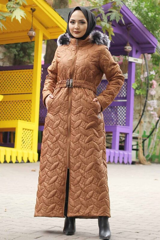 Plus Size Quilted Coat TSD9904 Taba
