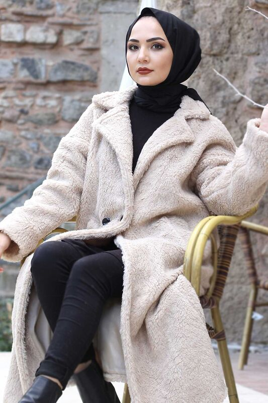 Plush Coat TSD1330 Beige