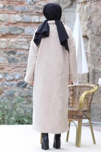 Plush Coat TSD1330 Beige - Thumbnail