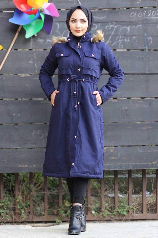 Pocketed Coat TSD2026 Navy
