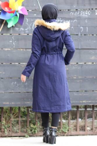 Pocketed Coat TSD2026 Navy - Thumbnail