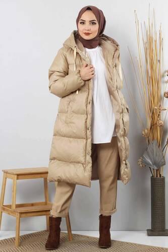 Puffer Coat TSD2250 Beige - Thumbnail
