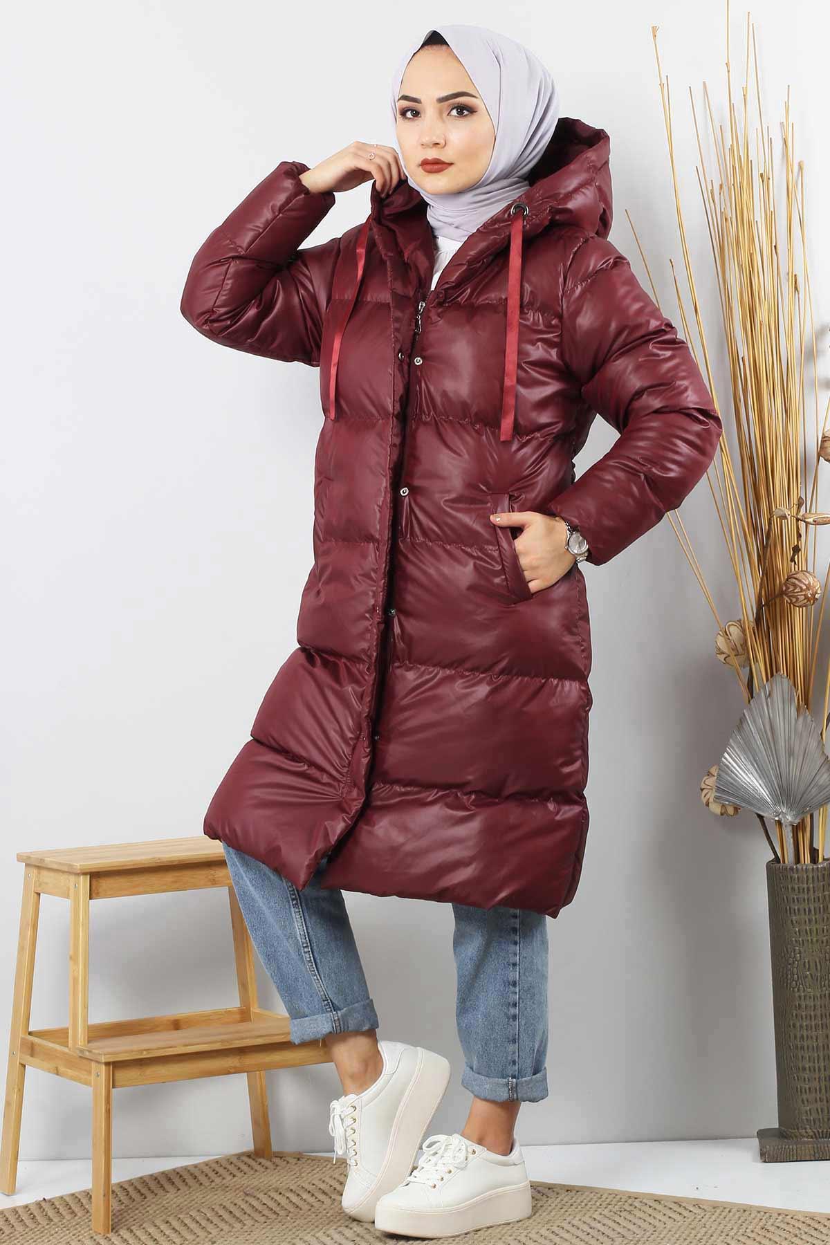 Puffer Coat TSD2250 Claret Red