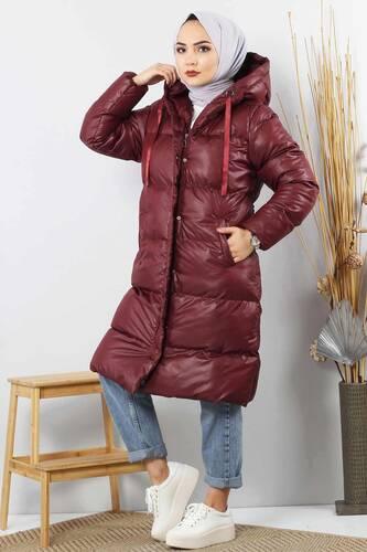 Puffer Coat TSD2250 Claret Red - Thumbnail