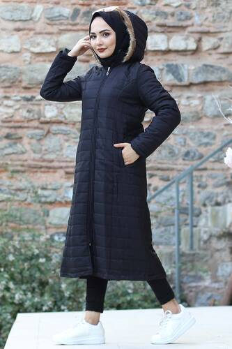 Quilted Coat TSD4446 Black - Thumbnail