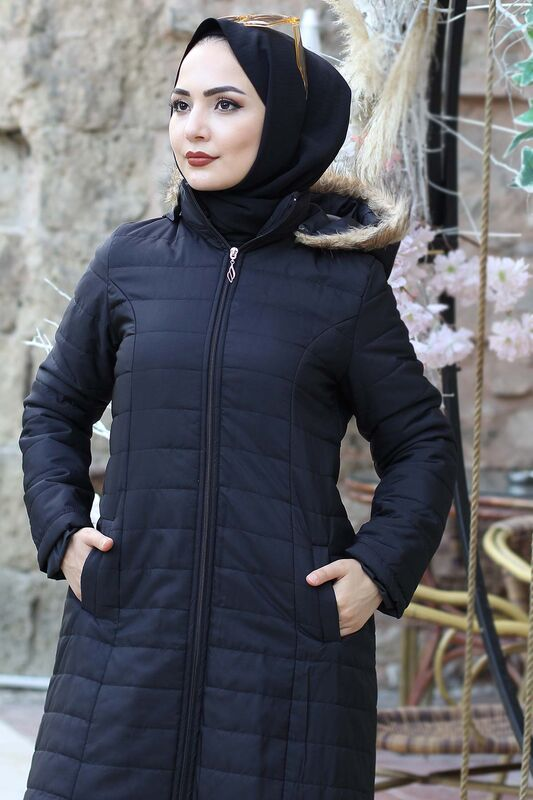 Quilted Coat TSD4446 Black