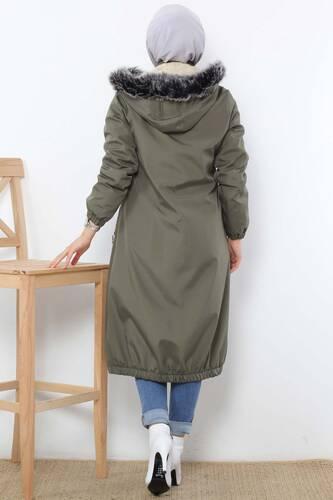 Rain Proof Bondit Coat TSD3009 Khaki - Thumbnail