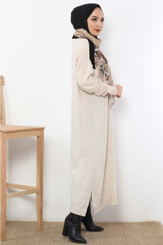 Scarf Sweater Dress TSD1480 Beige