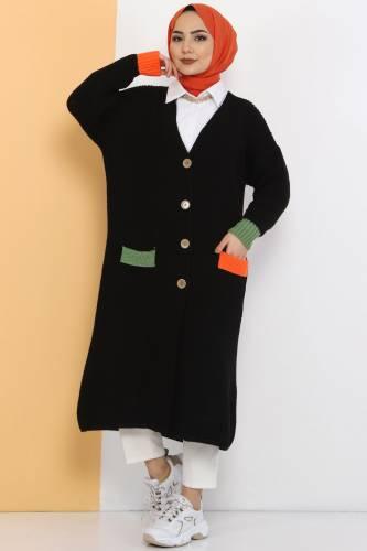 Shabby Knitwear Cardigan TSD2449 Black - Thumbnail