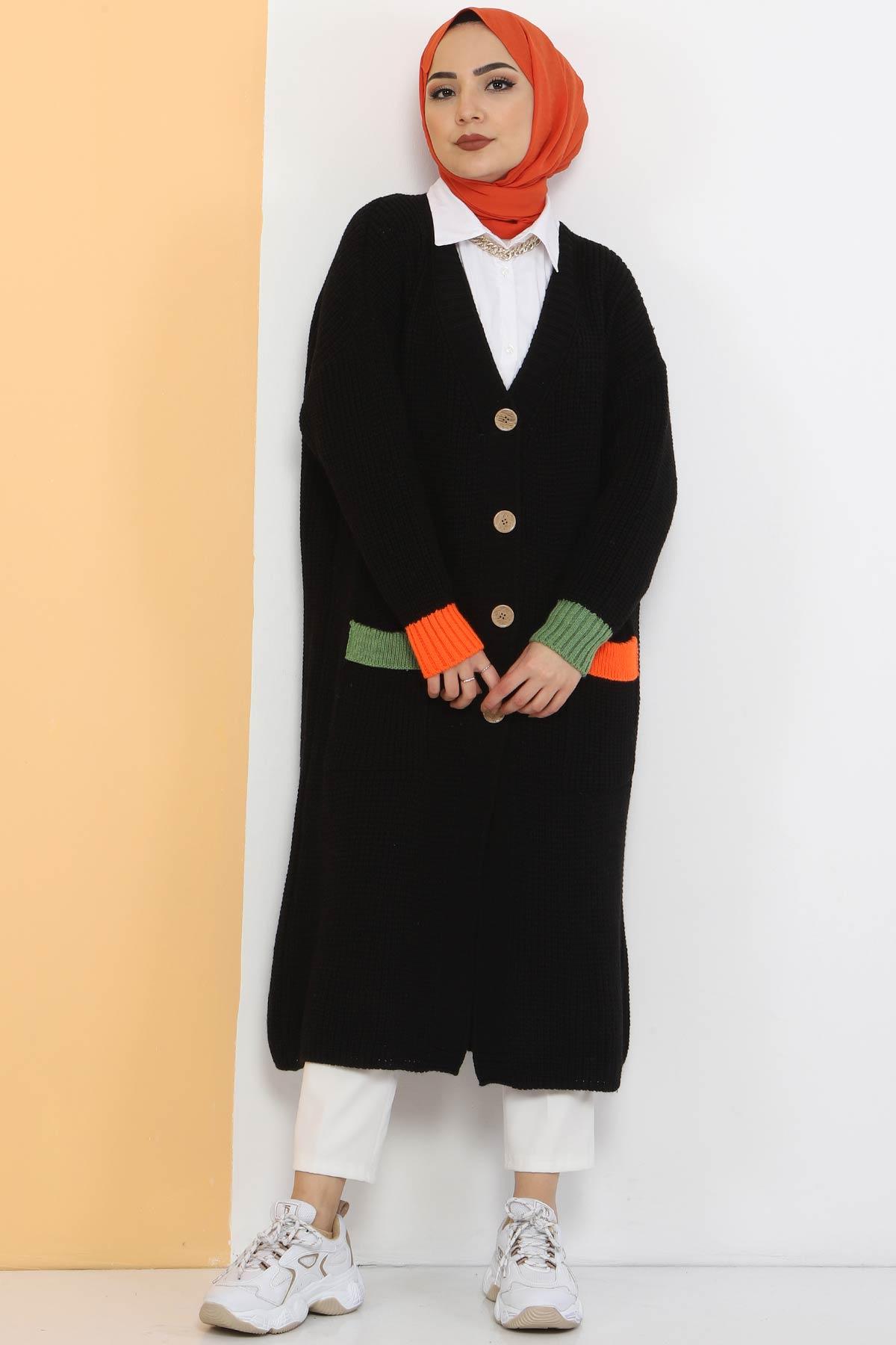 Shabby Knitwear Cardigan TSD2449 Black