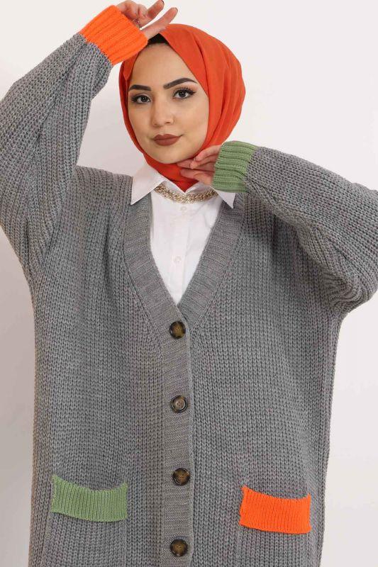 Shabby Knitwear Cardigan TSD2449 Gray