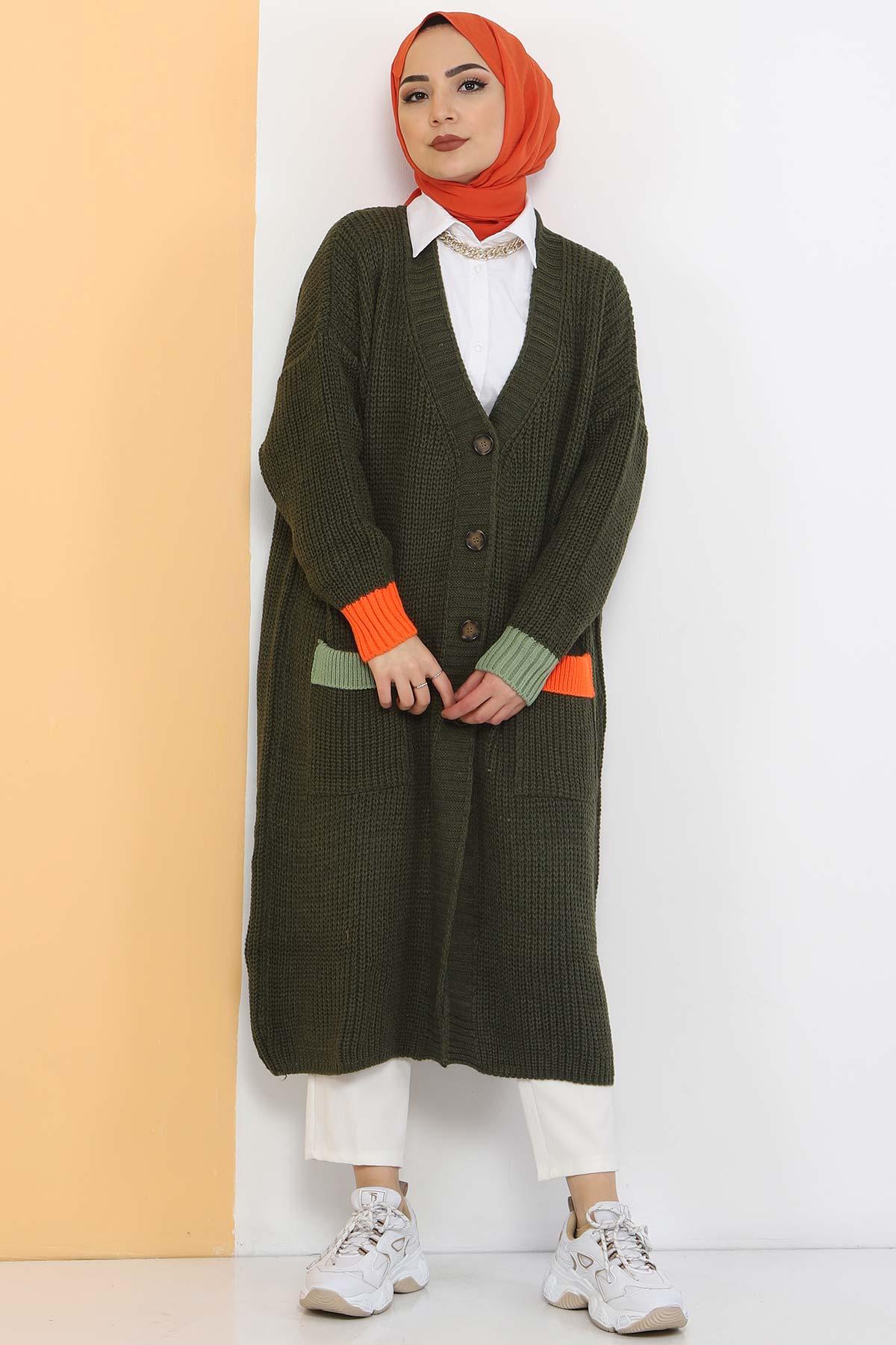 Shabby Knitwear Cardigan TSD2449 Khaki