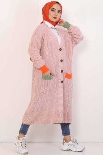 Shabby Knitwear Cardigan TSD2449 Powder - Thumbnail