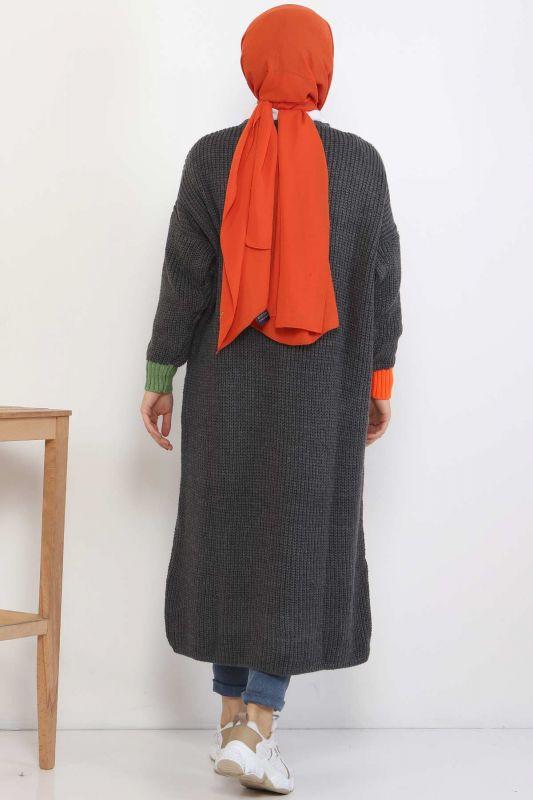 Shabby Knitwear Cardigan TSD2449 Smoked