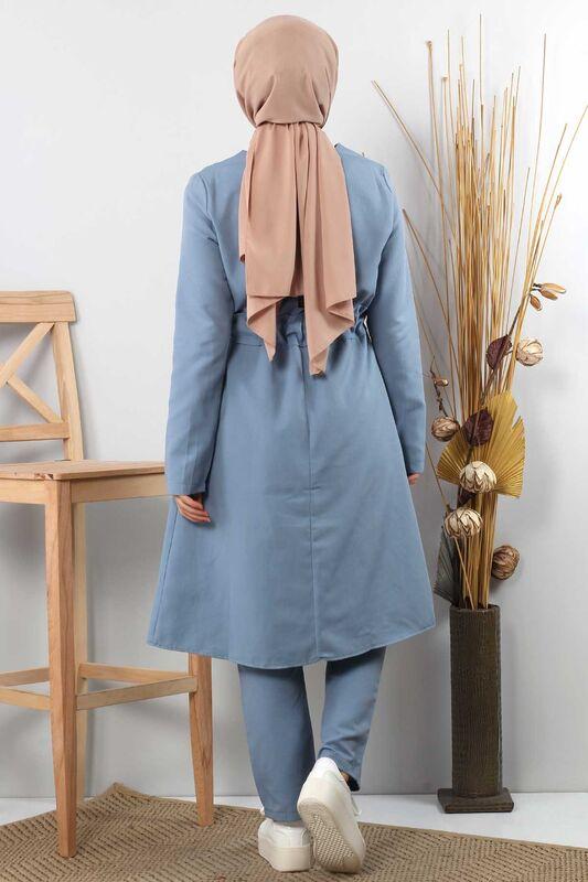 Side Bonded Double Suit TSD0117 Jeans Blue