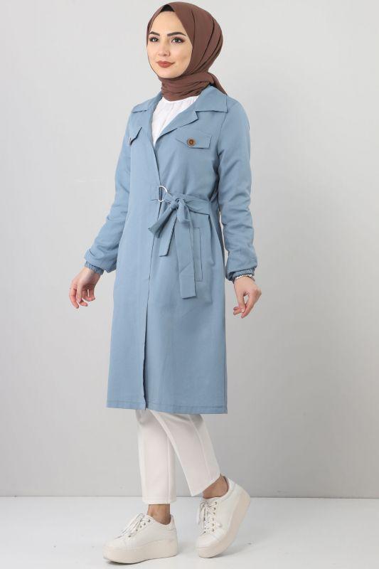 Side Tie Jacket TSD0329 Blue
