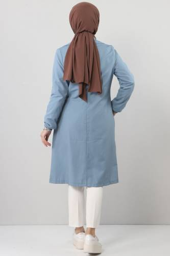 Side Tie Jacket TSD0329 Blue - Thumbnail