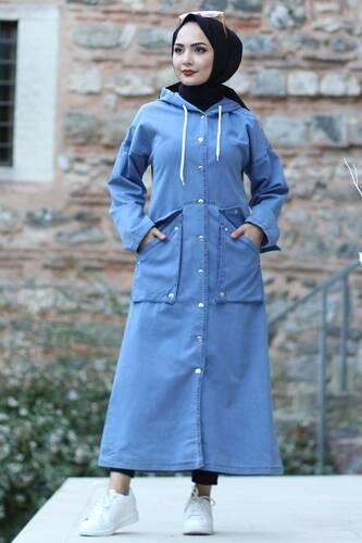 Snaps Jeans Cape TSD1609 Light Blue - Thumbnail