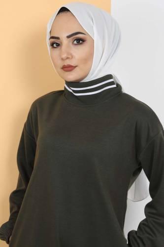 Tesettür Dünyası - Spor Elbise TS10484 Haki (1)