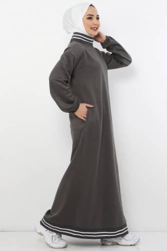 Tesettür Dünyası - Spor Elbise TS10484 Füme