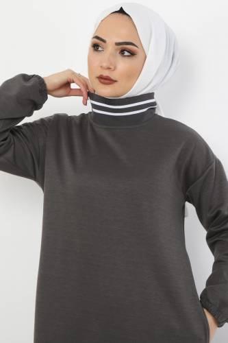 Tesettür Dünyası - Spor Elbise TS10484 Füme (1)