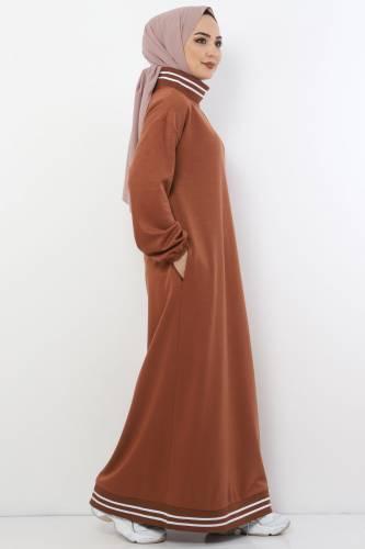 Tesettür Dünyası - Spor Elbise TS10484 Taba
