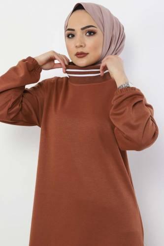 Tesettür Dünyası - Spor Elbise TS10484 Taba (1)
