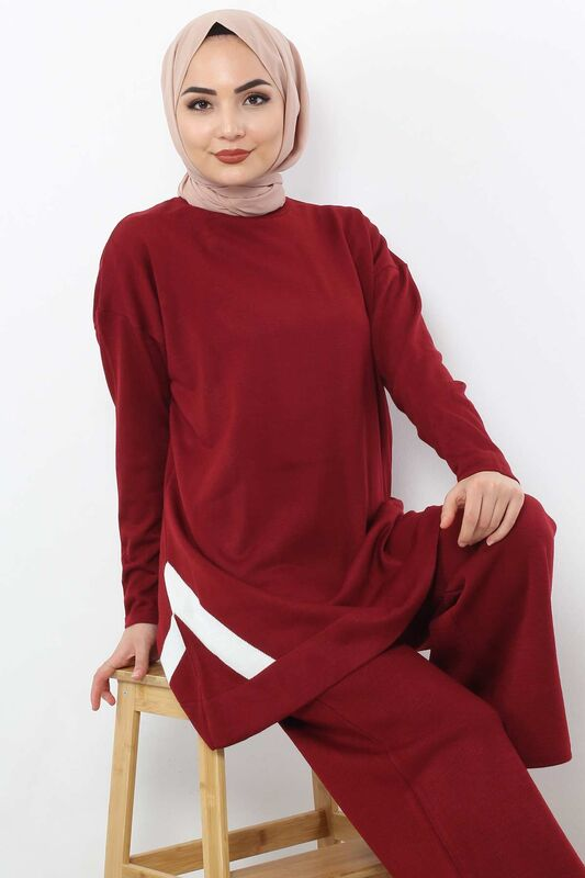 Striped Double Suit TSD2004 Claret Red