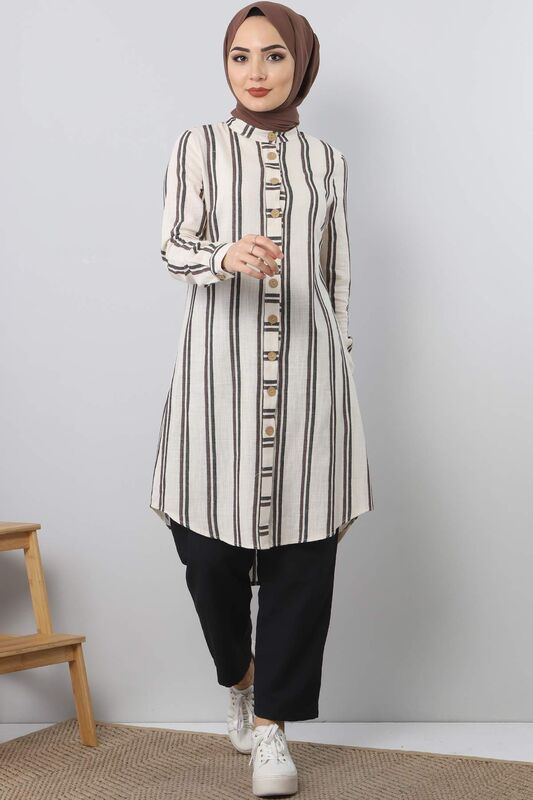 Striped Suit TSD3988 brown