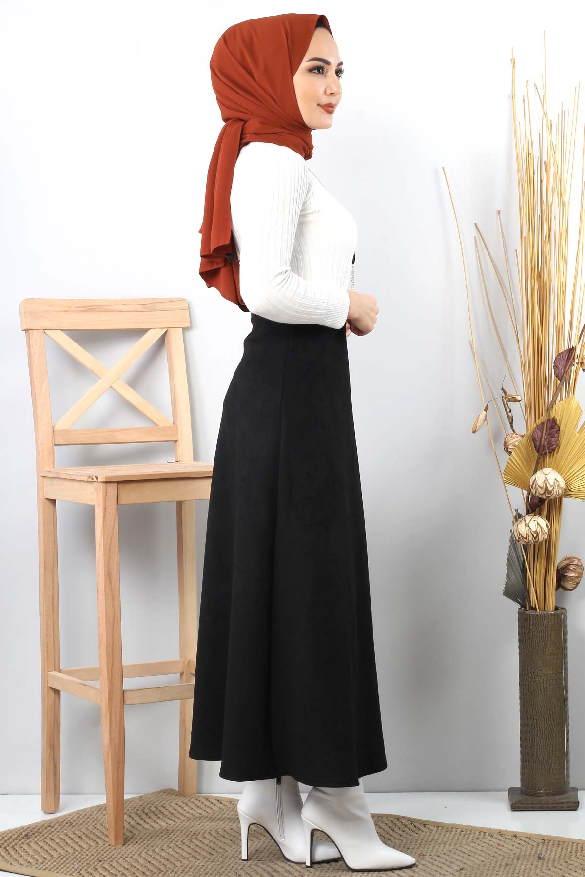 Suede Skirt TSD0811 Black