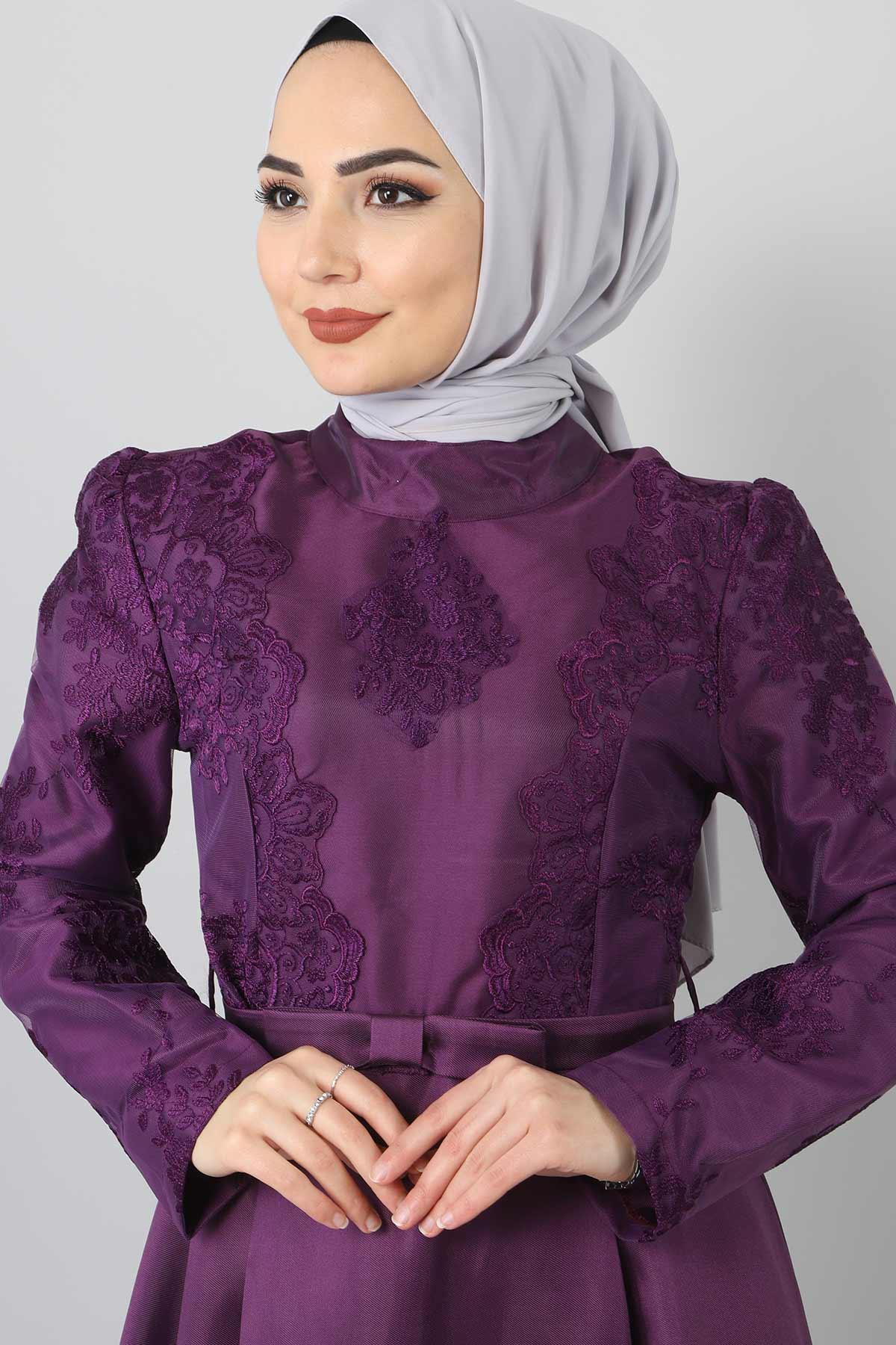 Sultan Abiye TSD8723 Mor