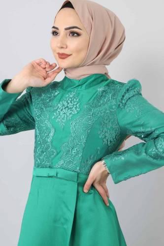 Sultan Abiye TSD8723 Yeşil - Thumbnail