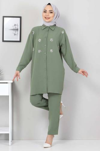 Taşlı İkili Takım TSD2522 Yeşil - Thumbnail