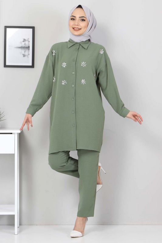 Taşlı İkili Takım TSD2522 Yeşil