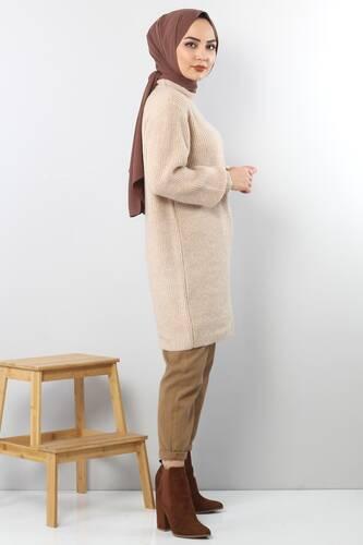 Trico Wide Sleeves Tunic TSD3647 Light Brown. - Thumbnail