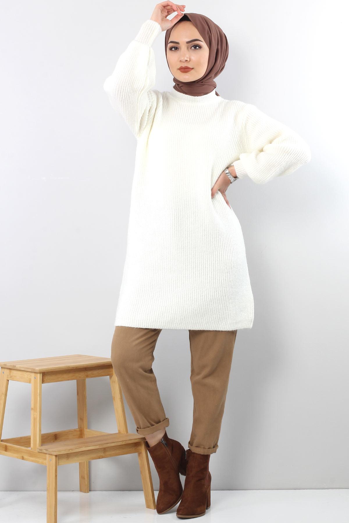Trikot Wide Sleeve Tunic TSD3647 in Milk.