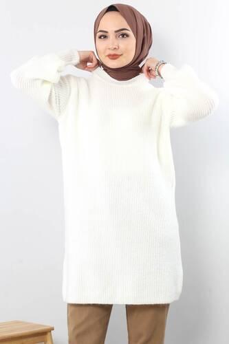 Trikot Wide Sleeve Tunic TSD3647 in Milk. - Thumbnail