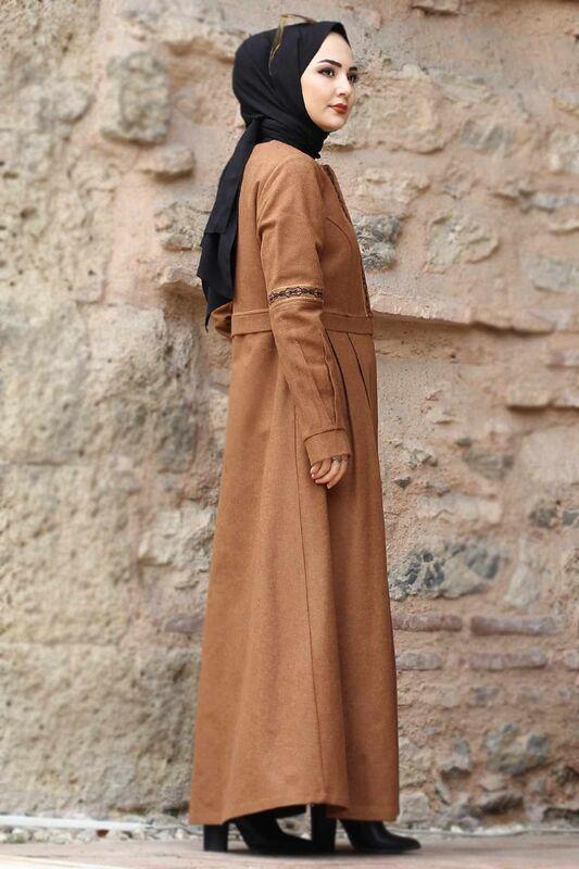 معطف صوف كامل الطول TSD0263 طابا