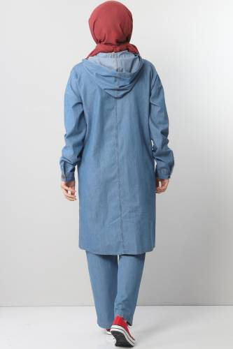بدلة جينز TSD0454 أزرق فاتح - Thumbnail