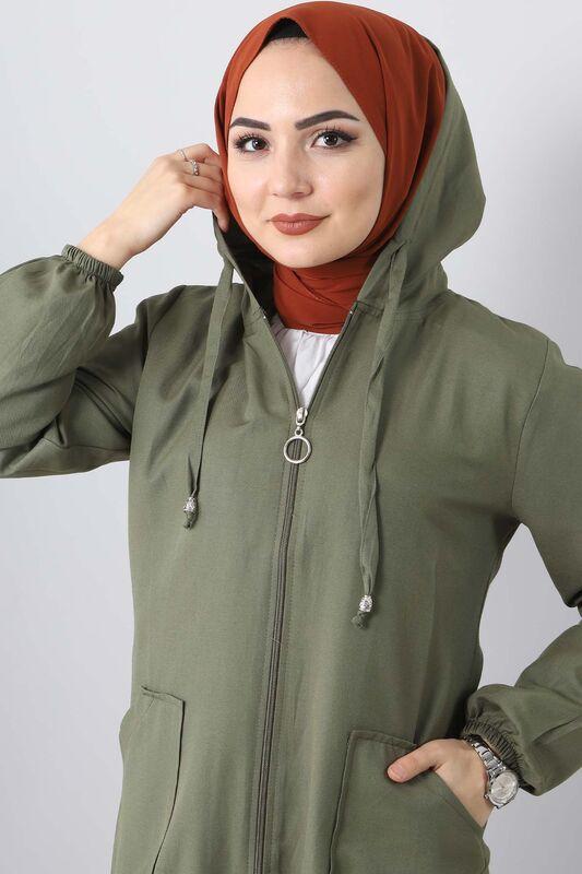 تنورة حجاب مطاطية TSD1097 خاكي