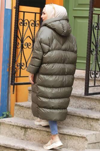 معطف قابل للنفخ TSD1186 كاكي - Thumbnail